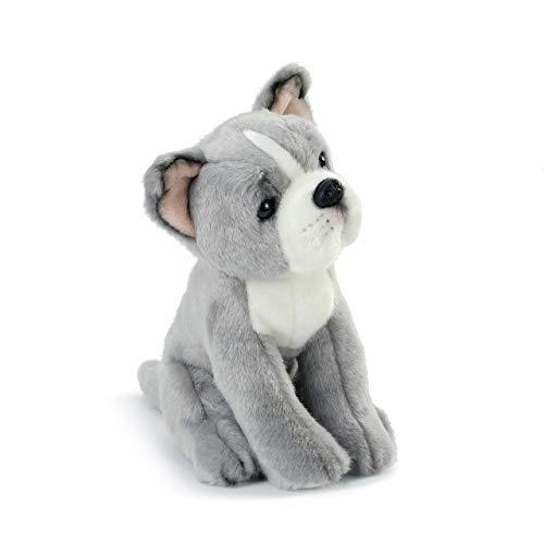 DEMDACO Pittie Mix Rescue Breed Dog Grey 10 inch Plush Fabric Stuffed Figure Toy