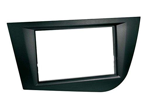 ACV electronic façade d'autoradio pour seat leon 1P modèles à partir de 2005, double-dIN couleur : noir