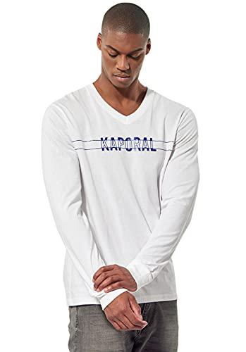 Kaporal - T-Shirt régular Homme avec imprimé - Tina - Homme - XL - Blanc