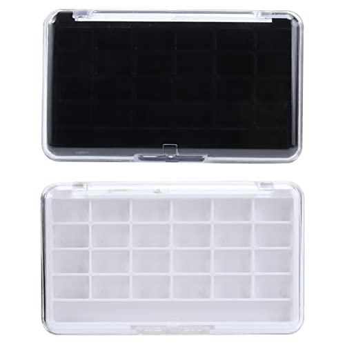 Healifty 2PCS Empty Eyeshadow Palette Refillable Makeup Eyeshadow Palette Pans Case for Women...