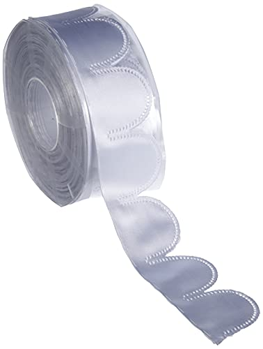 Furlanis H1350_13_25 Nastro Portaconfetti (90 Pezzi da 5 Petali), taffettà, Bianco Ottico, 50mm x 25m