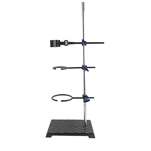 QWORK Heavy Duty Laboratory Stands Support Set - Cast Iron Base (8.6