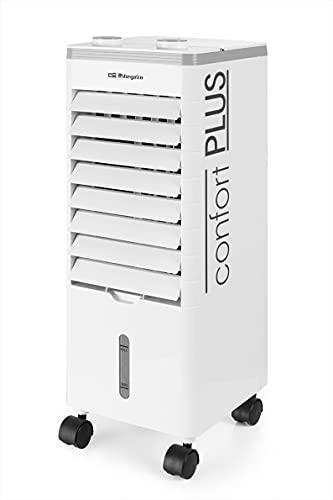 Orbegozo AIR 35 - Climatizador evaporativo 3 en 1, 3 velocidades, aspas orientables, depósito de 3 l, silencioso, filtro lavable, 60 W