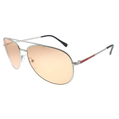 Prada LINEA ROSSA 0PS 55US Gafas de sol, Silver Rubber, 57 para Hombre