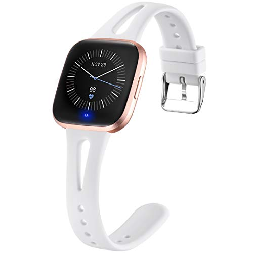 Ouwegaga Compatible with Fitbit Versa 2 Bands for Women Men Versa Lite Bands White Large
