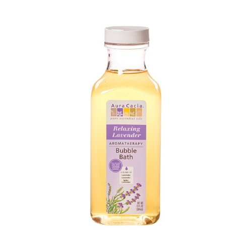 Aura Cacia Aromatherapy Bubble Bath, Relaxing Lavender 13 oz (Pack of 5)