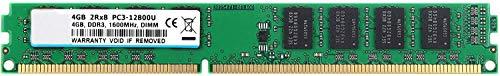 BPX Memoria RAM DDR3 de 1600 MHz Memoria RAM de 4 GB de Escritorio, DDR3 PC3-12800 DDR3 UDIMM CL11 1.5V 2RX8 PC3 módulo de Chips