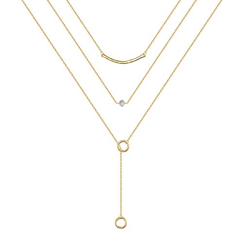 (60% OFF) Dainty Layered Necklace 14K Gold Plated $6.00 – Coupon Code