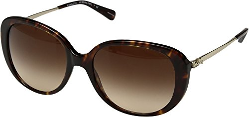 Coach Gafas de Sol HC 8215 Havana/Brown Shaded 57/18/140 mujer