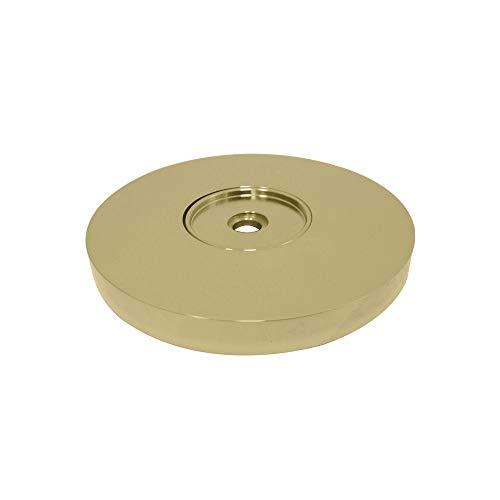 Kingston Brass GLDRF814122 Silver Sage 1-1/4-Inch Grab Bar Flange, Polished Brass