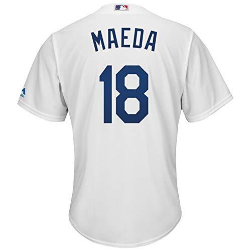 YQSB Camiseta Deportiva Baseball Jersey Dodgers Los Angeles Dodgers # 18 Kenta Maeda Ropa de béisbol,Men-M