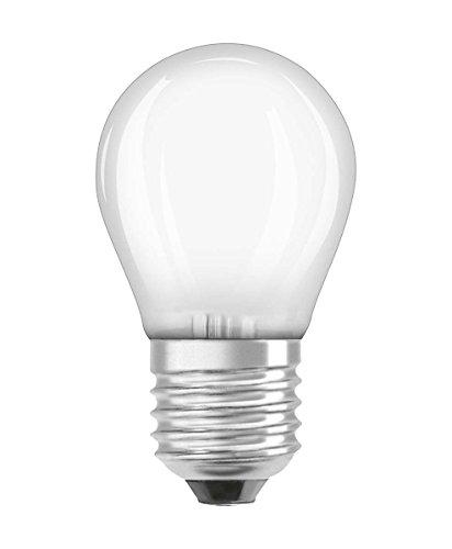 OSRAM Lot de 2 Ampoules LED à Filament Dépolies | Culot E27 | Forme Sphérique | Blanc Chaud 2700K | 4W (équivalent 40W)