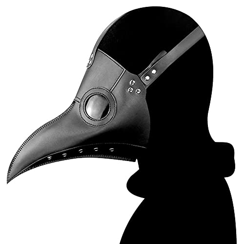 Halloween Plague Dr Bird Vintage Vintage Steampunk MA-SKS Gtico de la Nariz Larga Beak Doctor Face Shield Cosplay Mascarada Crazy Fiesta Disfraces Dress Up Props (Color : Black)