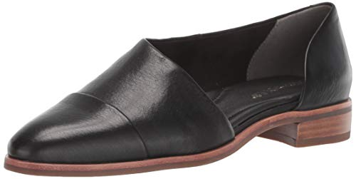 Aerosoles Women's East Bound Loafer Flat, Black Leather, 5.5 M US