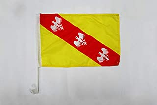 AZ FLAG Bandera de Coche de Dinamarca 45x30cm BANDERINA para Auto DANESA 30 x 45 cm