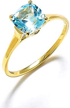 YoTreasure 1 74 ct Sky Blue Topaz Solid 10k Gold Solitaire Ring product image