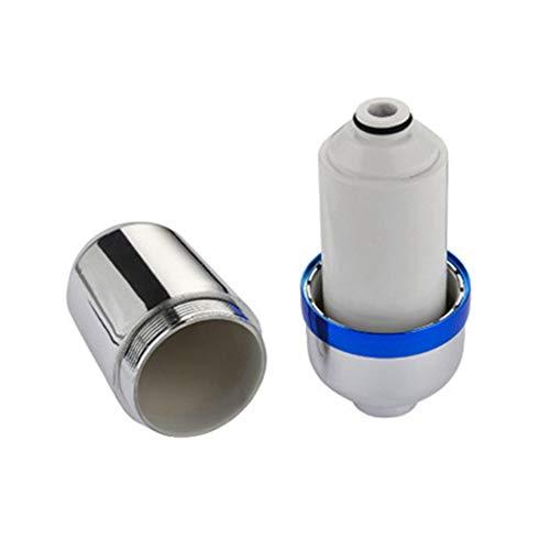 RHNE Filtro de Ducha de baño Filtro de Agua de baño Purificador Tratamiento de Agua Suavizador de Salud Eliminación de Cloro Purificador de Agua Blanco