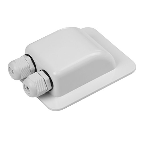 Link Solar Weatherproof ABS Solar Double Cable Entry Gland for All Cable Types 2mm² to 6mm² for Solar Project on Rv, Campervan, Boat