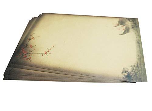 Depory 40 hojas Papel con diseño de papel antiguo Carta Pergamino Vintage Din DIY