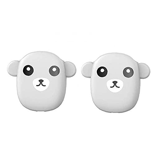 WYZQ Gadget de Viaje, Funda para Auriculares Compatible con Apple Headphone Funda Protectora Ligera Gris 1 par, Auriculares