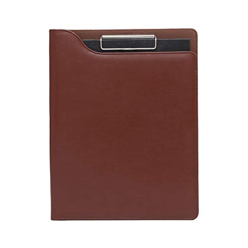 wantanshopping Portapapeles de Cuero de Carpeta Multifuncional A4 con Diferentes Tipos de Bolsas de información Binder Business Binder Conveniente y práctico (Color : Brown)