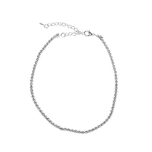 YUZI Collar de cristal minimalista gargantilla collar de diamantes de imitación nupcial boda Prom joyería colgante collar conjunto para mujeres