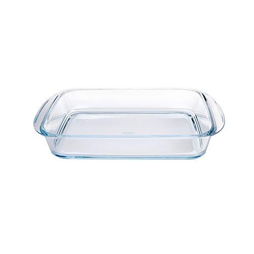 Pyrex 4936921 - Pirofila rettangolare in vetro, 35 x 23 cm, trasparente