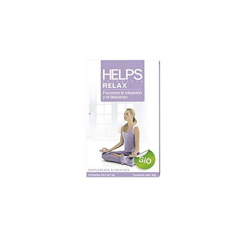 HELPS INFUSIES - Ecologische Relax Infusion van Melissa en Passionflower. Biologische ontspannende thee die Helps bij het slapen. Doos met 20 zakjes.