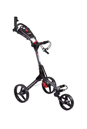Cube CART 3 Wheel Push Pull Golf CART - Two Step Open/Close - Smallest Folding Lightweight Golf CART...