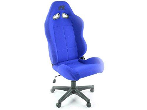 FK sportstoel bureaustoel Pro Sport blauw managerstoel draaistoel bureaustoel