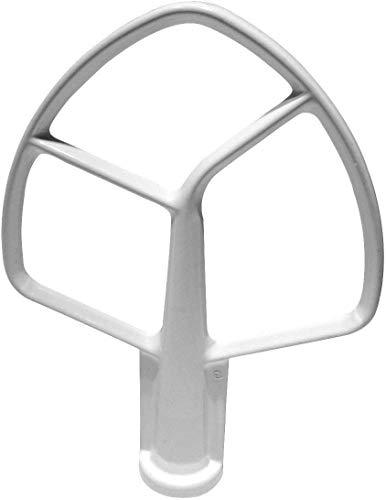 Stand Mixer (18,5cm) 5QT Flat Beater K5AB W10672618, Compatibel met Kitchenaid Professionele Bowl Lift Mixers (KPM5, K5, K50)