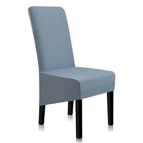 Matstolsskydd enfärgade överdrag för stolar spandex stretchstolskydd universal A45010 2pcs Gråblå