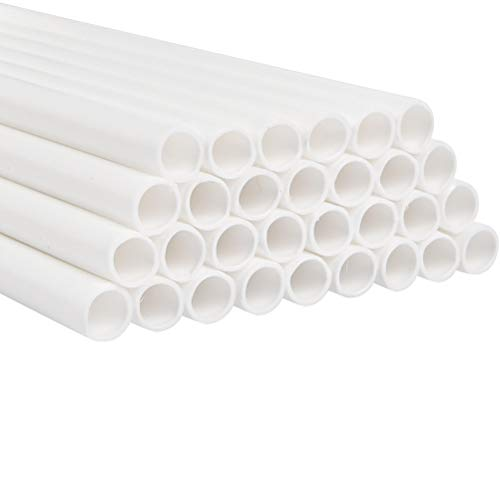 HONMIED 30 Stück Dübelstangen für Kuchen-Konstruktion, 24 cm Weiß Tortenstützen, Kuchenstützen für Kuchen- Bau und Kunst Handwerk