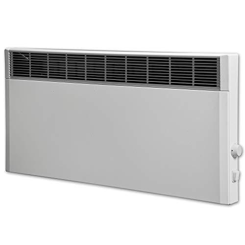 Elektroheizung, Heizkörper, Speicherheizung/Schamottespeicher mit integrierten Thermostat und Wandhalterung - 2400 Watt - Maße: (BxHxT): 90,0cm x 44,5cm x 8,5cm
