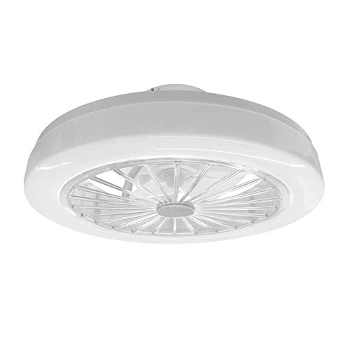 Lámpara LED regulable con ventilador de techo con mando a distancia, 3 marchas.