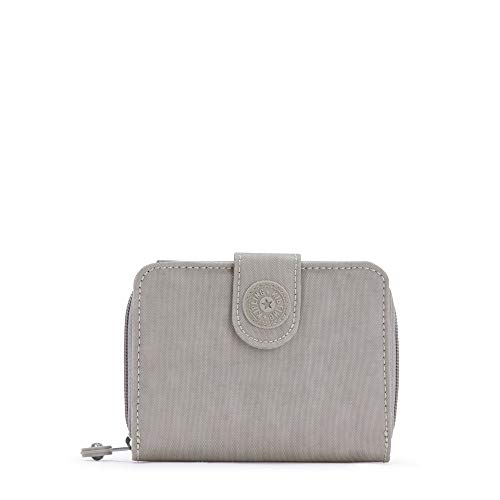 Kipling New Money Small Credit Card Wallet Grey Gris