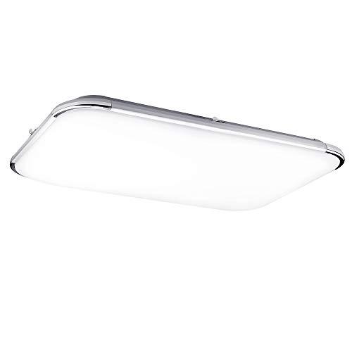 UNISOPH Luz de techo, 64W 220V LED Rectangular Luz de techo Proteger los ojos 65 * 43cm / 25.55 * 16.9 pulgadas para baño Aseo Cocina Guardarropa Cuarto húmedo Lavadero Garaje