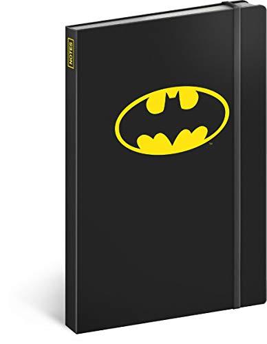 Cuaderno de rayas con banda de goma aprox. A5 – Bloc de notas para mujeres, niñas, adolescentes y niños – Escuela y oficina diario (Batman – Señal)