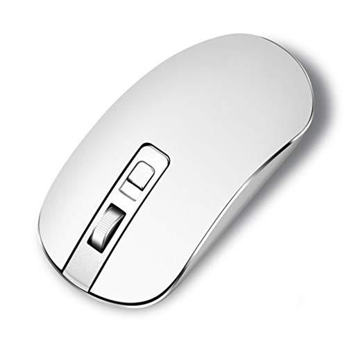 XIAOQIAO 2,4 G trådlös mus, med tyst design, USB trådlös anslutning, lämplig för stationära datorer, bärbara datorer och allt-i-ett-datorer (färg: Silver)