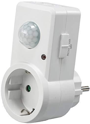 ChiliTec - Enchufe con detección de movimiento (120°, 230 V), color blanco