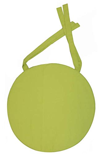 Galette de chaise ronde 40x4 cm Vert anis