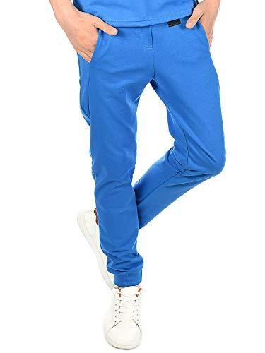 BEZLIT Kinder Jungen Hosen Jogging Sport-Hose Stoff-Hose Freizeit-Hose Trainings-Hosen Stylisch 30045 Blau 164