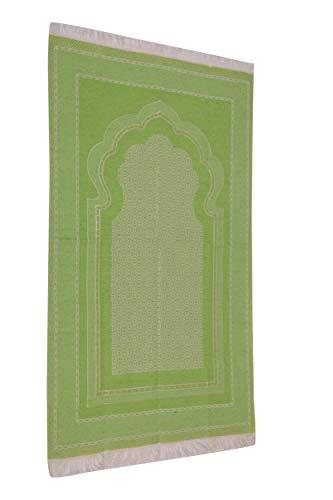Alfombra de oración musulmana ligera Sajjad, varias variedades modernas de viaje, color verde pistacho