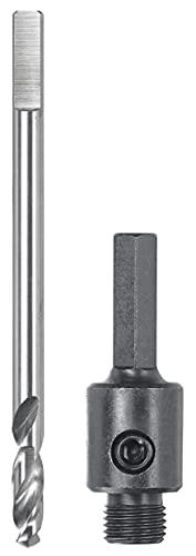 kwb Vástago hexagonal 499003 para sierra de corona Easy-Cut de 25 mm con rosca de 1/2' - 20 UNF, incluye broca de centrado HSS