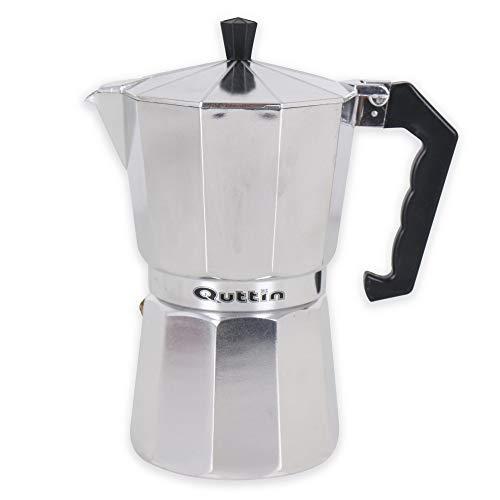Quttin 8433774683285 Cafetera, 6 Cups, Aluminio