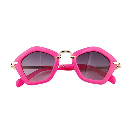 Seasaleshop Polygonal kinderen zonnebril kinderen jongens meisjes AC lens zonnebril kunststof frame zonnescherm
