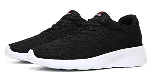 MAlITRIP Sneakers for Men Best Lightweight Athletic Jogging Running Tennis Walking Shoes Mens Black White Size 13