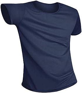 Tシャツ 半袖ティーシャツ おしゃれ無地汚れないユニセックススポーツシャツ作業着 撥水加工 機能素材 速乾 通気性 汗染み防止 トレーニングランニングアウトドア釣りゴルフ 4カラー