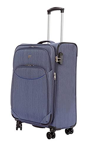 LYS Paris - Maleta de cabina flexible extensible, azul, Valise Cabine Souple Extensible, Maleta
