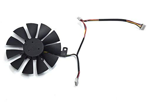 PLD09210S12HH Ventilador de Refrigeración de Repuesto Graphics Card Fan para ASUS STRIX R9 390 X 390 RX 480 RX 580 GTX 980 Ti 1060 1070 1080 Gaming Graphic Card (Fan-A(6pin))